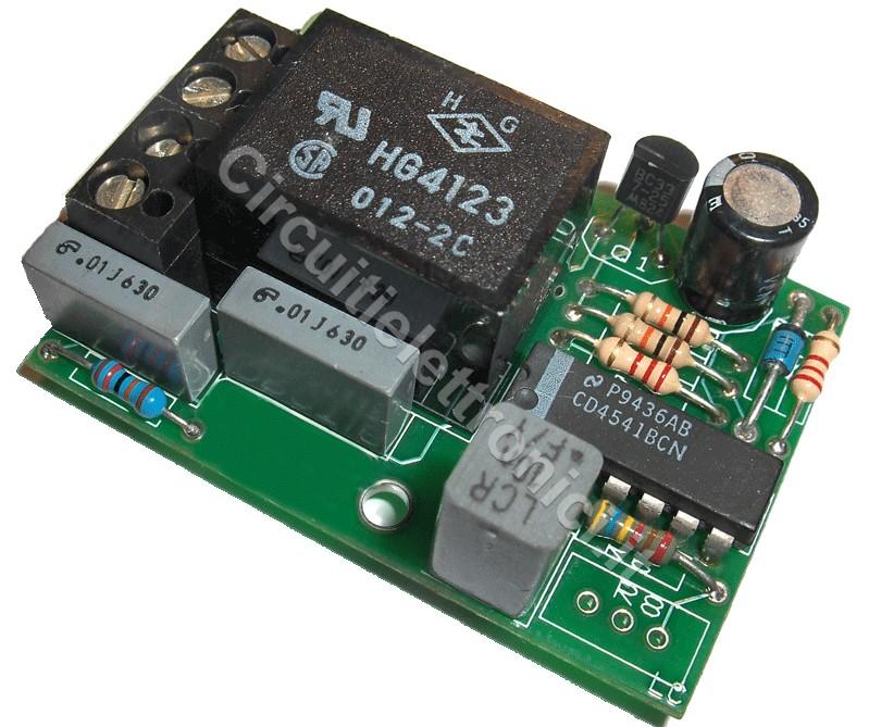 Schema Elettrico Per Temporizzatore : Timer ritardato in eccitazione circuitielettronici