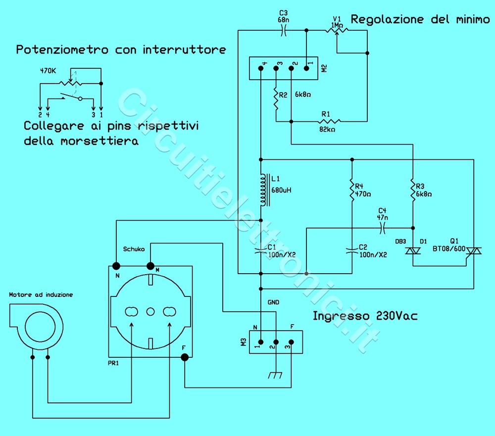Schema Elettrico Per Wilayah : Variatore di velocita per ventole con motore ad induzione